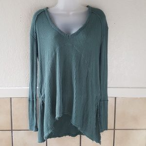 Free People Ling sleeve thermal oversized top. XS